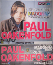 PAUL OAKENFOLD   2x ISRAEL POSTER MADONNA