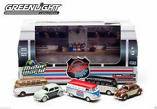 GREENLIGHT MOTOR WORLD ROADSIDE DINER VW 5-PACK LTD ED/BEETLES, SAMBAS & VAN MIB