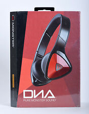 Monster DNA Noise Isolating On-Ear Headphones w/Mic & ControlTalk Red/Black