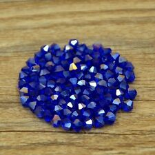 Swarovski 5301# 4 mm Bicone Crystal bead C 100 Pieces Dark blue AB