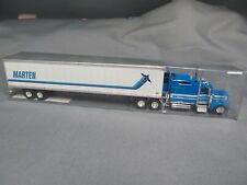 "TON 0709 - Kenworth W900L with 84"" bunk and reefer trailer. ""Marten"" 1/87th"
