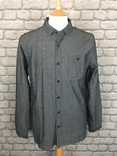 BNWT NANNY STATE MENS UK S GREY DENIM LONG SLEEVE SHIRT