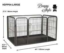HEAVY DUTY DOGGY STYLE WHELPING PEN WITH ABS TRAY  PUPPY PLAYPEN  Large