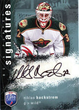 NIKLAS BACKSTROM 2007-08 BE A PLAYER SIGNATURE CERTIFIED AUTOGRAPH