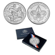 Boy Scout Uncirculated Commemorative Silver Dollar Coin in Government Packaging