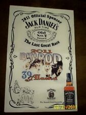 JACK DANIELS Iditarod 2011 Alaskan Sled Dog Race Collectible Advertising Poster