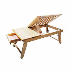 Portable Folding Laptop Table Stand Desk Lap Bed Tray TV Dinner Notebooks Bamboo