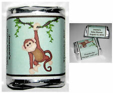 60 MONKEY JUNGLE BABY SHOWER CANDY WRAPPERS FAVORS