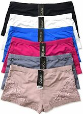 Pack of 6 pcs Ladies Boyshort Lace Panties Lot New LPN2401B Size: S