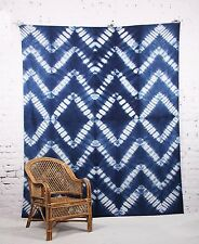 Ethnic Shibori Art Wall Hanging Decor Queen Size Mandala Bedspread Tapestry