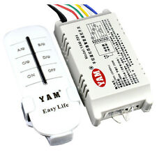 YAM Wireless 4 Kanaele ON/ OFF 220V Lampe Fernbedienung Schalter Empfaenger X0A2