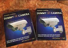 Coppia Videocamere Video sorveglianza Ip Fittizio Deterrente Intrusi