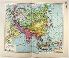 Original 1933 German Map of Asia