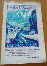 1930 guide touristique  office des voyages la depeche toulouse