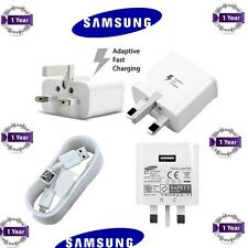 Brand NEW SAMSUNG MAINS CHARGER FOR GALAXY S4 S2 S3 S5 MINI NOTE 2 & USB CABLE
