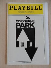 January 2010 - Playwrights Horizons Theatre Playbill - Clybourne Park