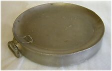 Clate 1700s pewter dish warmer avec touch & hall marks london 7.8 inde 1070gms