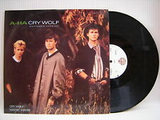 "A-HA - Cry Wolf / Maybe, Maybe, Warner Brothers W8500T Ex- Condition 12"" Single"