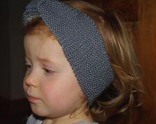 Bébé fille bandeau tricoté à la main taille unique ardoise