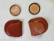 Two 30mm Vintage Tiffen 85A + EdnaLite 81C Filters Series V - with Leather Cases