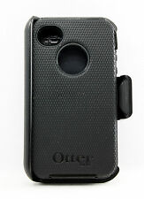 OtterBox Defender Rugged Hard Case w/Holster Belt Clip for iPhone 4s 4 Black USE