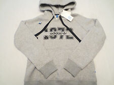ADIDAS SUPER LOGO ESSENTIALS HOODIE GREY S19614 Womens SIZE XL NWT