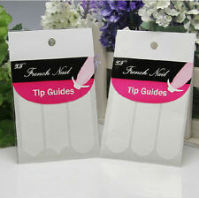 Lot 4 Packs Nail Art French Guide Smile Striping Tape Line Stickers Unique#
