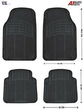 BLACK RUBBER NON-SLIP MAT MATS SET FOR PEUGEOT 107 208 207 308 307 407