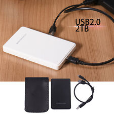 "2T SATA USB 2.0 2.5"" HDD Hard Drive Disk Case Box External Enclosure PC Laptop"