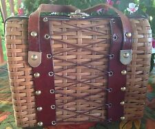 VINTAGE 1950'S SIMON BASKETWEAVE MISTER ERNEST BOX PURSE HANDBAG HONG KONG