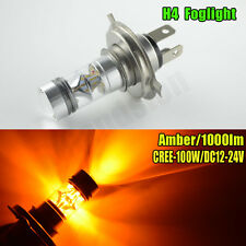 1x H4 Amber Yellow High Power 100W CREE LEDs Projector Headlight Fog Light Bulb