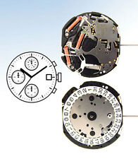 SEIKO Epson / Hattori Japan VD57 QUARTZ WATCH Movement - 3 EYE Chronograph