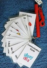Children's communication cards autism learning flash cards