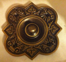 Large Antique On Solid Brass Fancy Bell Push