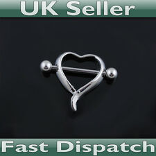 Heart Nipple Shield 14G - UK Seller - Fast Dispatch! Nipple ring bar