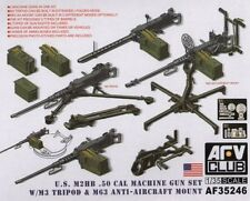AFV Club 1/35 U.S. M2HB .50cal Machine Gun Set w/M3 Tripod Plastic Model AF35246