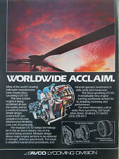 2/1980 PUB AVCO LYCOMING LTS 101 HELICOPTER TURBINE ENGINE ORIGINAL AD