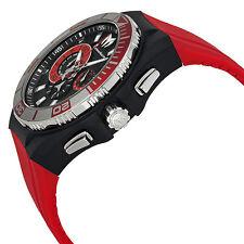 Orologio Uomo Technomarine 112012 Rosso Pelle Tessuto Cinturino di Ricambio