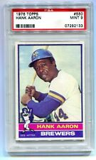 1976 TOPPS #550 HANK AARON PSA 9 MINT B7292133 (LOOKS GEM MINT)