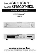 Marantz ST-450 Tuner Owners Manual