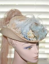 Women Victorian Edwardian Downton Abbey French Touring Tea Party Train Hat 16051