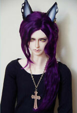 Bjd Doll Wig 1/3 8-9 Dal Pullip AOD DZ AE SD DOD LUTS Dollfie purple Toy Head