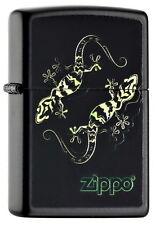 ZIPPO Feuerzeug LIZARD Black matte Eidechse Zippo Logo NEU OVP Sammlerstück!!