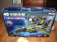 4 D VISION VEHICLES CUTAWAY MODEL F-14D VX-9 VAMPIRES 1-32 SCALE KIT AIR PLANE