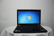 Laptop rápido Lenovo Thinkpad X220 i5 2.5GHz 4GB 320GB Windows 7 Cámara web Grado B