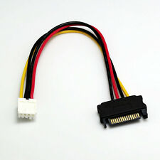 15-pin SATA Male to Mini 4-pin Floppy FDD Female Power Converter Adapter Cable