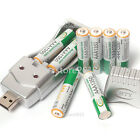 8PCS AAA 1.2 V 1350mAh Ni-MH BTY Rechargeable Battery Cell + AA AAA USB Charger