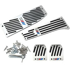 NEW Car Aluminum Footrest Rest Pedals Pad Set For BMW X1 E30 E36 E46 E90 E87 E93