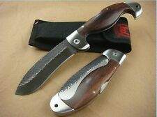 New Excellent Wood Handle Knife Tactical Saber Camping Rescue tool Sharp BODA