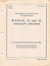 R-3350-13, -21, -23 Aircraft Engines Operating Inst's Flight Manual - CD Version